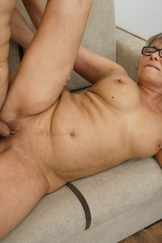 The Charms Of A Granny's Pussy-11