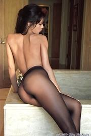 Linda Oneil In Black Pantyhose-17