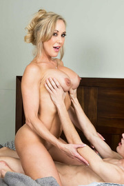 Brandi Love Stunning MILF Gets Drilled On The Couch-13