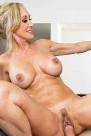Brandi Love Stunning MILF Gets Drilled On The Couch-19