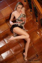 Anita Dark Sexy Pornstar Strips On Stairs-02