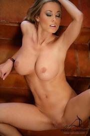 Anita Dark Sexy Pornstar Strips On Stairs-13