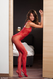 Love The Red Lingerie Very Horny-00