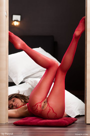 Love The Red Lingerie Very Horny-06