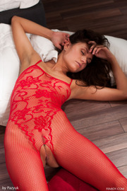 Love The Red Lingerie Very Horny-10