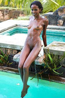Slim Ebony Babe Valerie