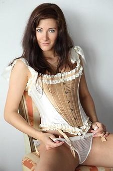 Lauren Crist In A Sexy Corset