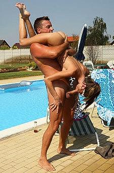 Rough Sex Near Poolside
