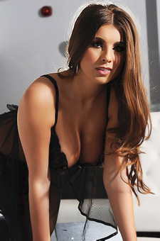 Busty Sarah In Black Lingerie