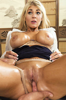 Busty Blonde Babe Gets Fucked