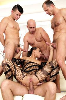 Slut Fucking With Four Guys