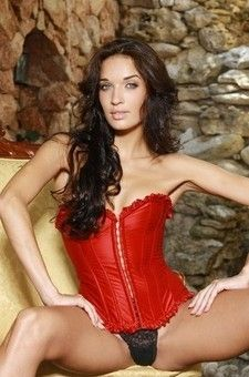 Olga In Red Corset