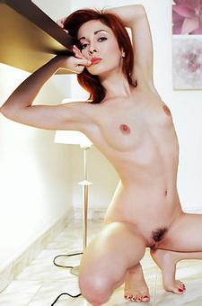 Petite Naked Redhead Babe
