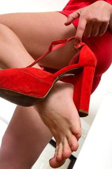 Selene Alluring In Red