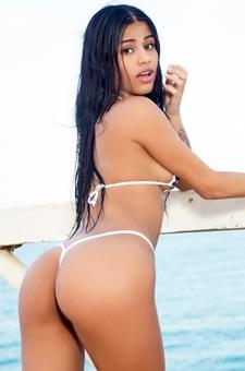 Denisse Gomez Posing In A Cute Little Bikini