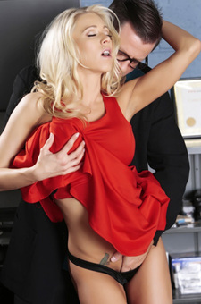 Katie Morgan Horny Secretary Makes Love In The Office