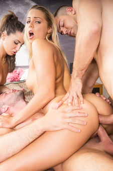 Christen Courtney And Medusa Star In A DP And Anal Orgy