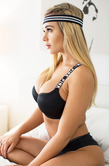 Sexy Busty Workout Girl