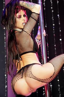 Busty Lap Dancer In Body Stockings
