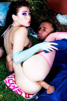 Aria Alexander Gets Drilled Outdoors