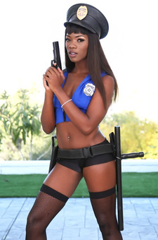 Ana Foxxx Strips Off Her Uniform