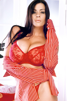 Linsey In Red Lingerie