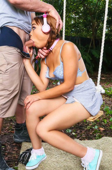 Adorable Jamie Marleigh Gets Abused In The Garden
