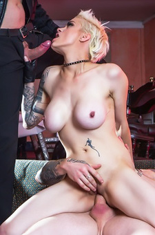 Mila Milan Gets Gangbanged By Two Big Cocks