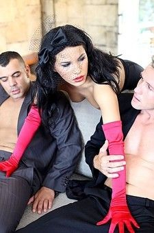 Blowjob And Fucking In Red Gloves
