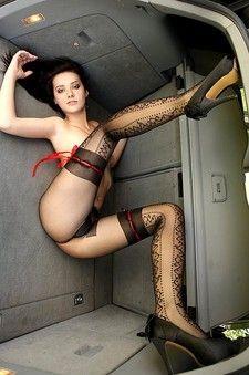 Hot Brunette Posing In Pantyhose