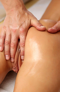 Baby Kate Getting Oiled Massage