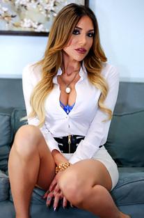 Jaclyn Taylor In Blue Lingerie