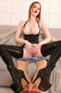 Red Haired Dominatrix Zara Durose Humiliates The Tiler
