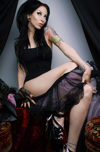 Leggy Gothic Babe In Sexy Fetish