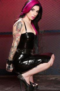 Joanna Angel In Sexy Pvc Dress