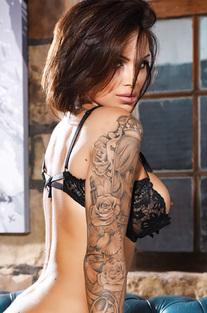 Gemma Massey In Her Open Bra