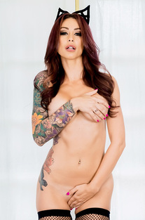 Monique Alexander In Sexy Fishnet Lingerie