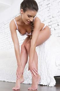 Beautiful Anita Bellini Is Posing In Sexy White Lingerie