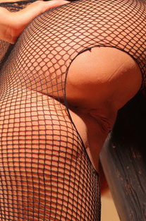 Michaela Isizzu In Sexy Black Fishnet