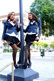 Uniform Babes Shows Their Sexy Asses In Public-02
