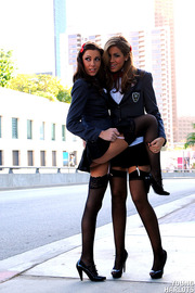 Uniform Babes Shows Their Sexy Asses In Public-10
